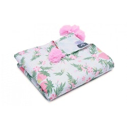 Pulp Eco Bomull Swaddle, Strawberries