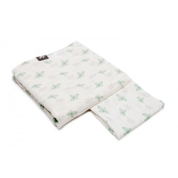 Pulp Bambu Swaddle filt + Snuttefilt, Mint Leaves