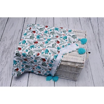Pulp Eco Bomull Swaddle filt, Green Dinos