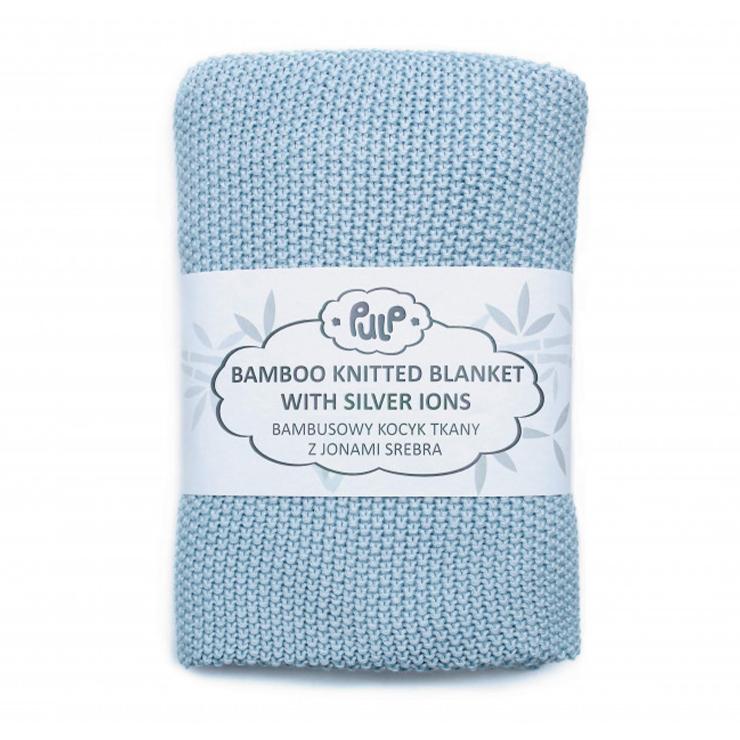 Pulp Bambu Baby filt med silver ions, Blue - Elliotti.se