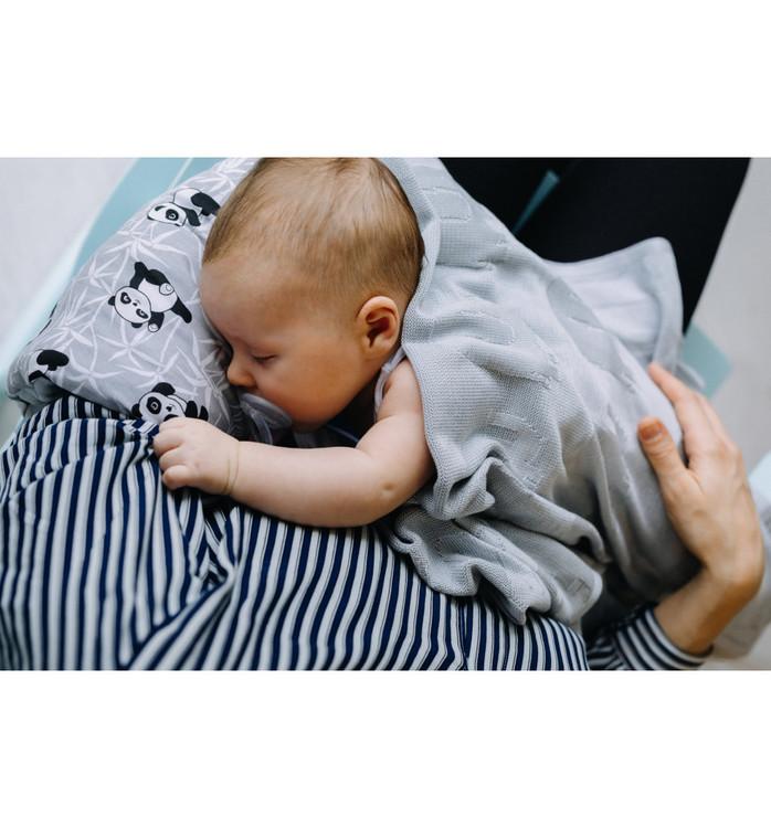 Pulp Bambu Baby filt, Grey Elefanter - Elliotti.se