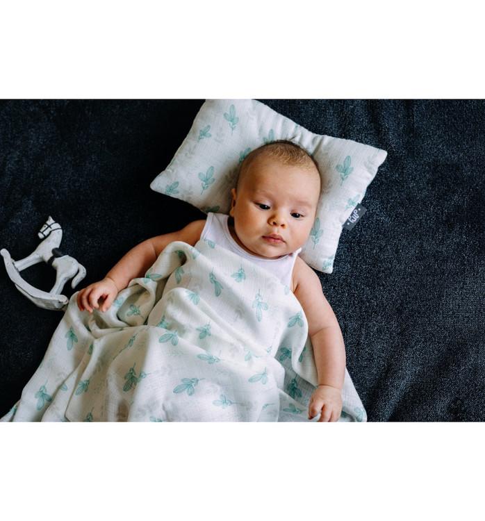 Pulp Bambu Baby kudde, Mint Leaves- Elliotti.se