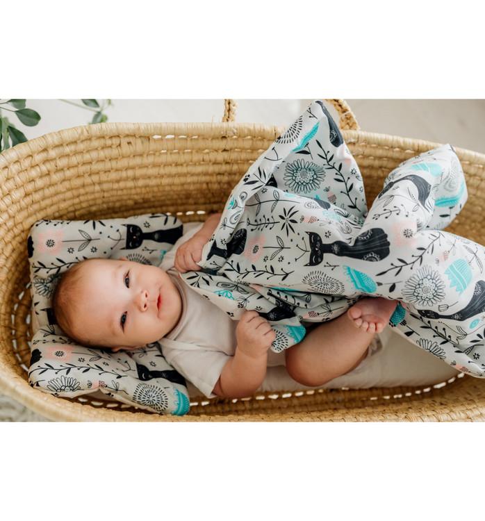 Pulp Bomull Baby täcke och kudde, Cats - Elliotti.se