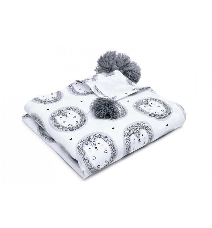 Pulp Eco Bomull Swaddle filt, Hedgehogs - Elliotti.se