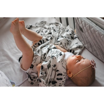 Pulp Eco Bomull Swaddle filt, Raccoons