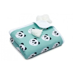 Pulp Eco Jersey Bomulls filt, Mint Pandas