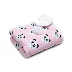 Pulp Eco Jersey Bomulls filt, Rosa Pandas