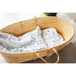 Pulp Eko Bomull bebistäcke och kudde 72cm x 52 cm, Dogs