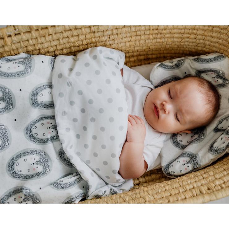 Pulp Bomull bebistäcke och kudde, Hedgehogs - Elliotti.se