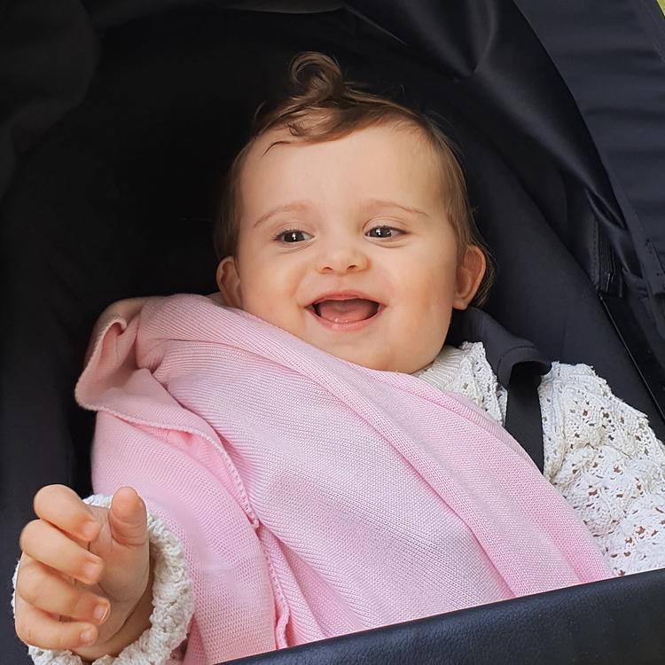 YOSOY Bambu filt, Baby Pink - Elliotti.se