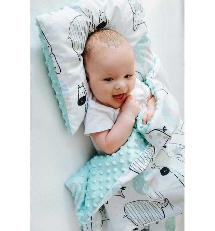 Pulp Minky fleece täcke, Giraffes - Elliotti.se