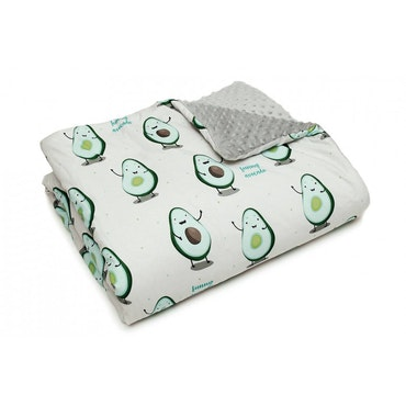 Pulp Minky fleece täcke, Avocado