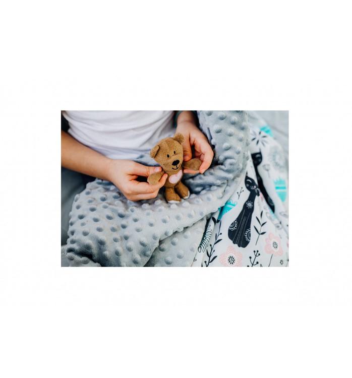 Pulp Minky fleece täcke, Cats - Elliotti.se