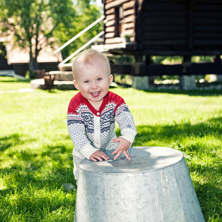 Marius Kids Bambu Overall vit - Elliotti.se