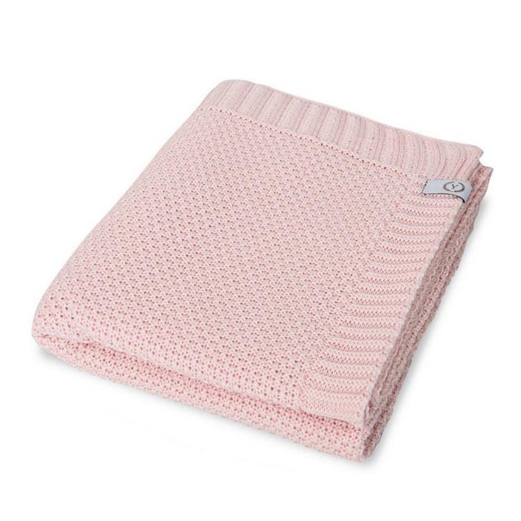 YOSOY Spring Rice stickat filt, Powder Pink - Elliotti.se