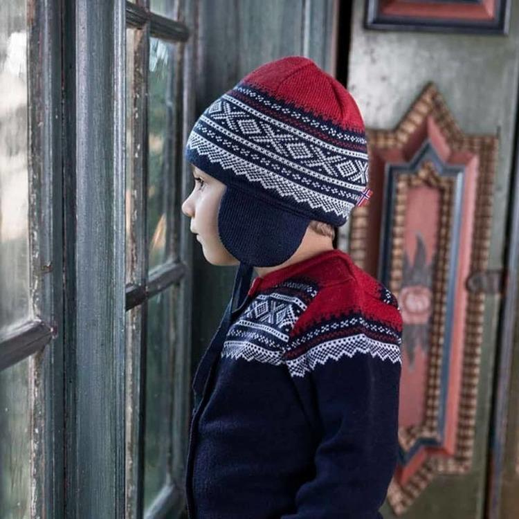 Marius Kids mössa i merinoull, Navy - Elliotti.se