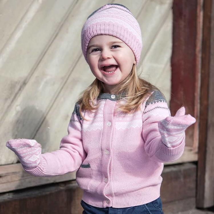 Marius Kids vantar i merinoull, Lotus Pink - Elliotti.se