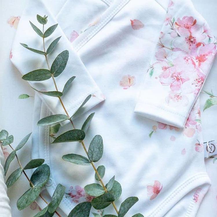 Yosoy ekologisk bomullsbody, Japanese Flowers - Elliotti.se
