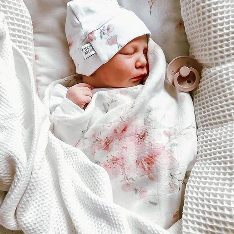 Yosoy BB-mössa till nyfödd, Japanese Flowers - Elliotti.se