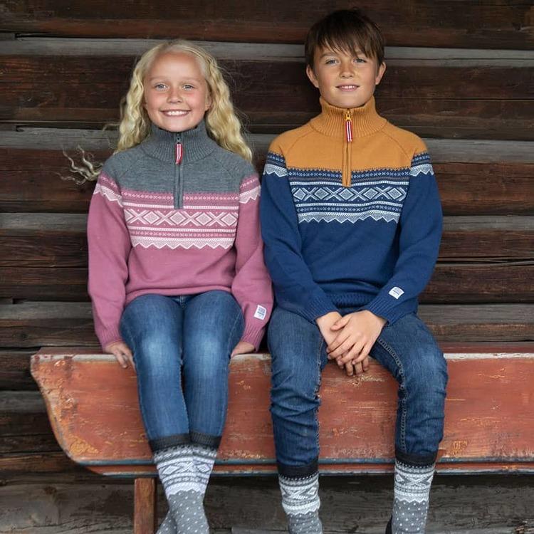 Marius Kids ulltröja med dragkedja, Mesa Rosa - Elliotti.se