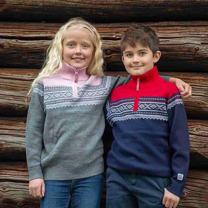 Marius Kids ulltröja med dragkedja, Lotus Rosa - Elliotti.se