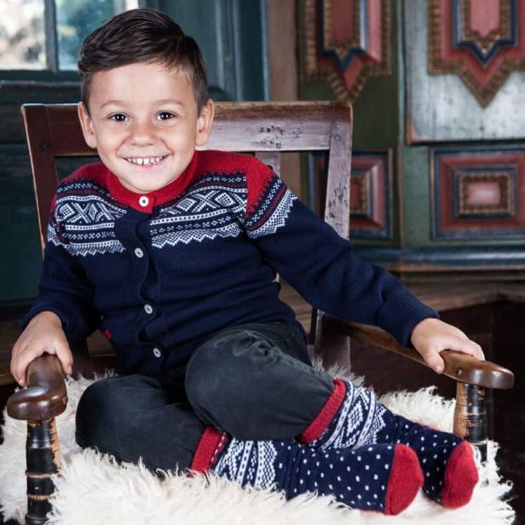 Marius® Kids strumpor i merinoull, Navy - Elliotti.se