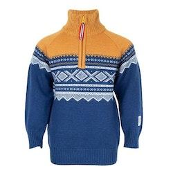 Present Merinoull tröja med zip + mössa, Stellar