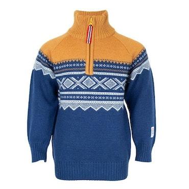 Julklapp Merinoull tröja med zip + mössa, Stellar