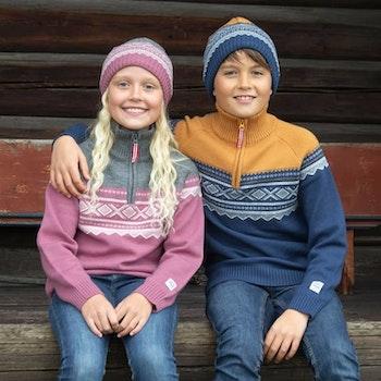 Marius® Kids mössa i merinoull, Mesa Rosa