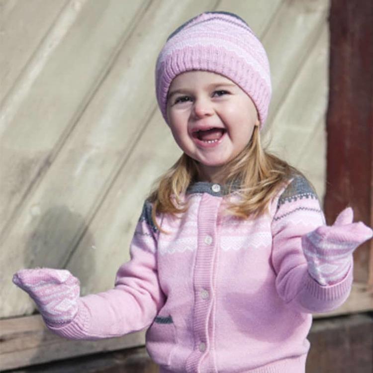 Marius® Kids mössa i merinoull, Lotus Pink - Elliotti.se