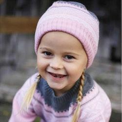 Marius Kids mössa i merinoull, Lotus Pink