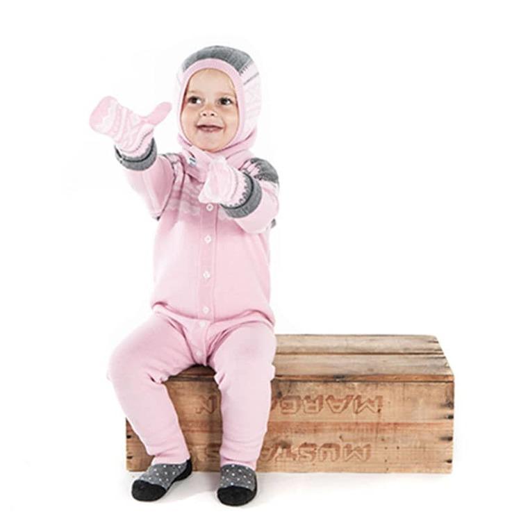 Present Marius Kids mössa och vantar, Lotus Pink - Elliotti.se