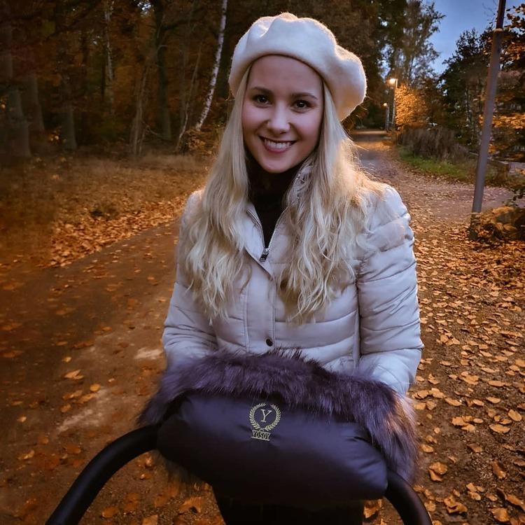 Yosoy handmuff Scandi mørk grå - Elliotti.se