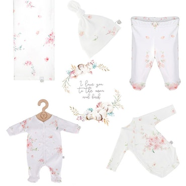 Nyfödd klädpaket Lyx, Japanese Flowers