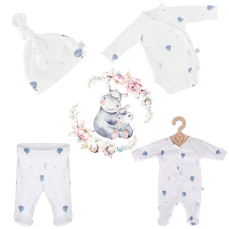 Nyfödd klädpaket, Blue Balloons - Elliotti.se