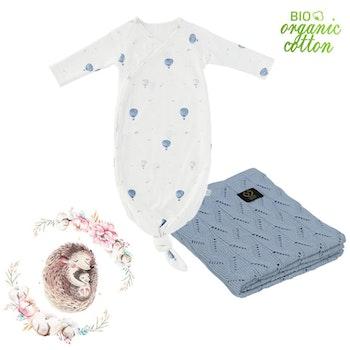 Välkommen hem paket nyfödd, blå