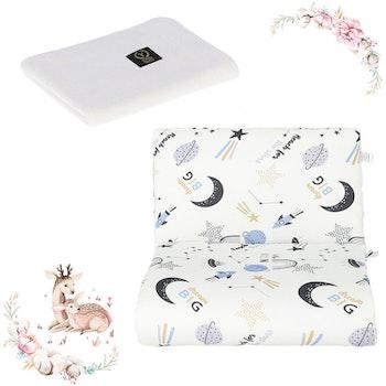 Nyfödd paket Moon - täcke och kudde + stickat filt i bambu