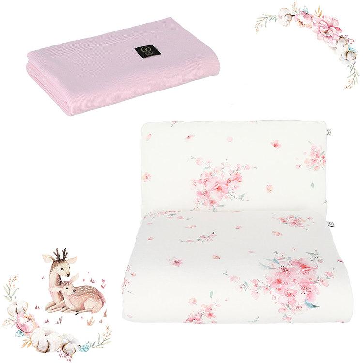 Nyfödd paket Japanese - täcke och kudde + stickat filt i bambu: Ecri