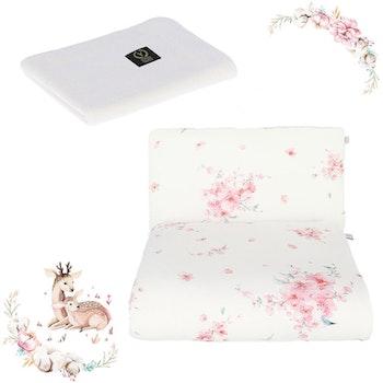 Nyfödd paket Japanese - täcke och kudde + stickat filt i bambu