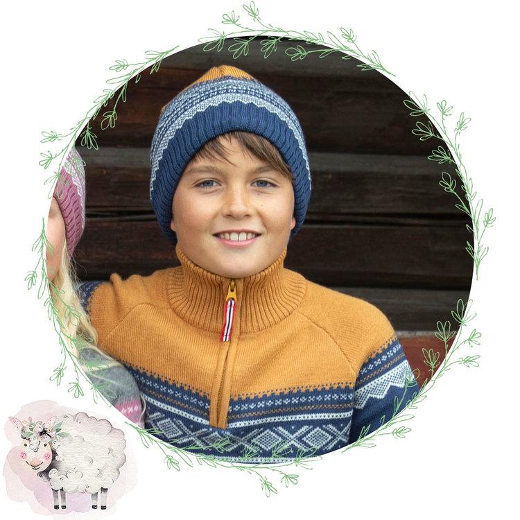 Present Merinoull tröja med zip + mössa, Stellar: 12 år