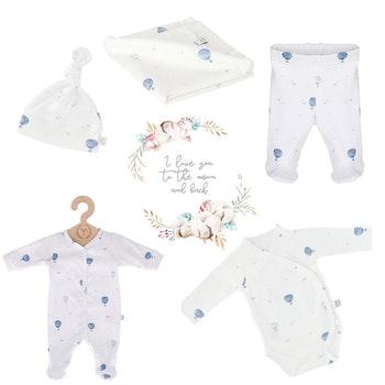 Nyfödd klädpaket Lyx, Blue Balloons