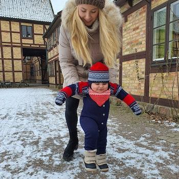 Marius Kids Bambu Babyscarf, Röd