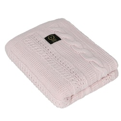 Yosoy Dreamy stickat filt, Powder Pink