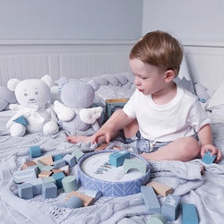 Angel Teddy Bear, Blue