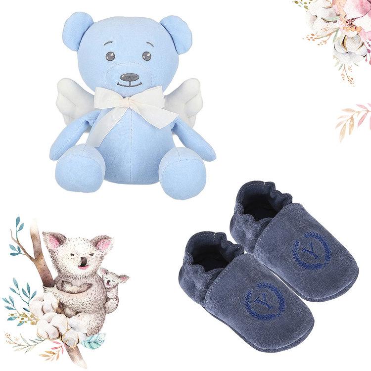 Produktpaket - Ängel Nalle och skor, Blå