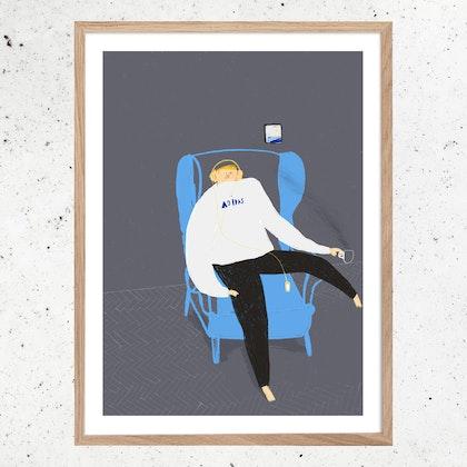 Poster Fluga på näsa