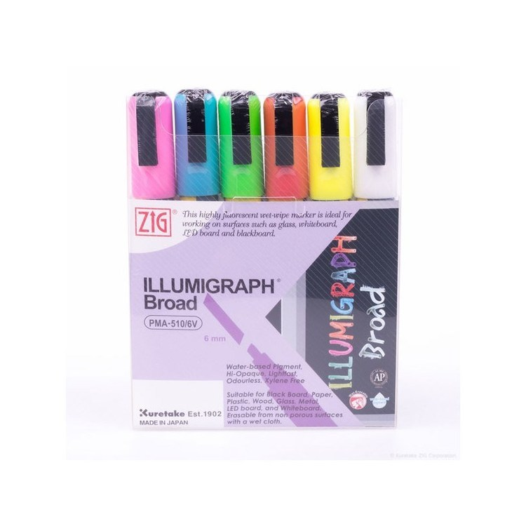 ZIG Illumigraph PMA-510 B 6mm 6/etui