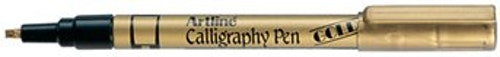 Kalligrafipenna Artline 2.5 guld/Artline 993 Metallic Calligraphy Pen 2.5mm Gold