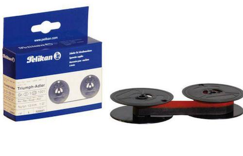 Färgband PELIKAN 520841 svart/röd Spole 8 / Pelikan 520841 compatible Nylon black+red 13 mm x 10 m Pelikan Gr. 1 D - 1 - print ribbon