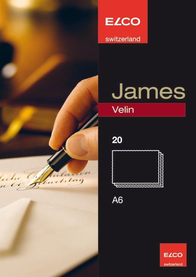 James Velin korrespondenskort A6 20-pack / Card A6 James Velin